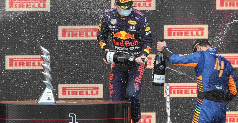 F1 Social Stint | Prachtige beelden door podium camera van Verstappen