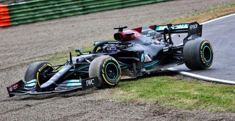 Masi hield Hamilton tijdens achteruit rijden scherp in de gaten