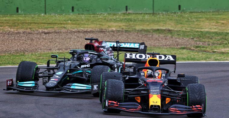 Verstappen en Hamilton maken hun naam waar: ''Een masterclass in de regen''