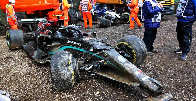 Mercedes confirms: irreparable damage to W12 Bottas after Imola crash