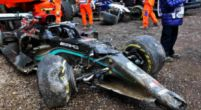 Afbeelding: Mercedes bevestigt: Onherstelbare schade aan W12 Bottas na crash Imola