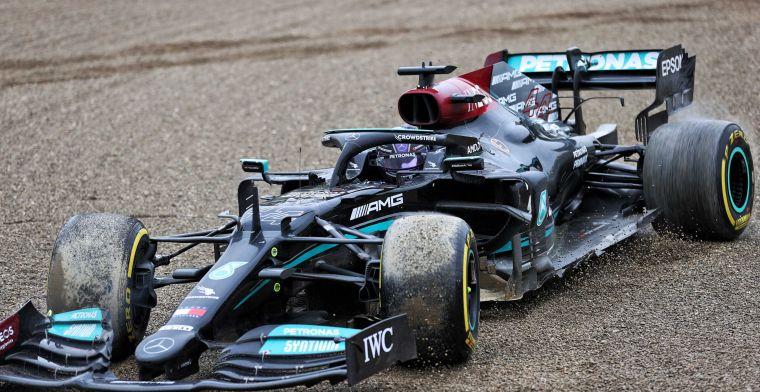 Zoveel tijd verloor Hamilton per ronde door de schade na het duel met Verstappen