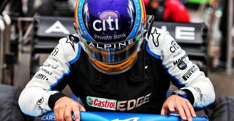 Terugkeer in F1 blijkt lastig voor Alonso: ''De stopwatch liegt nooit''