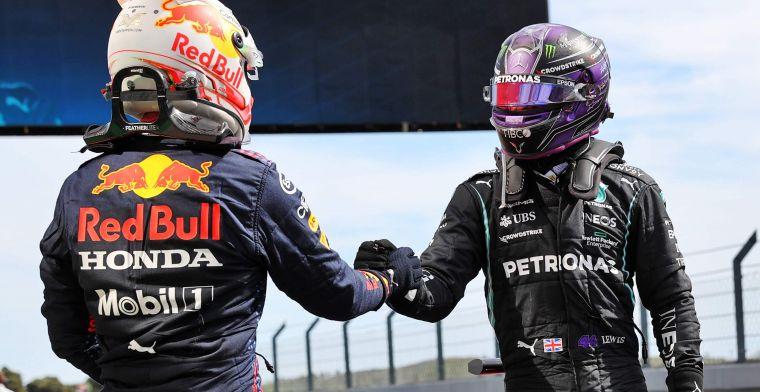 Hamilton ziet Red Bull terrein inleveren: 'Wij hebben geen stap vooruit gemaakt'