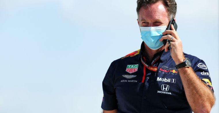 Horner over mislukte pitstop Verstappen: 'Hadden hem nog niet binnengeroepen'