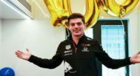 Afbeelding: Red Bull verrast Verstappen met 100 ballonnen voor 100 races met het team