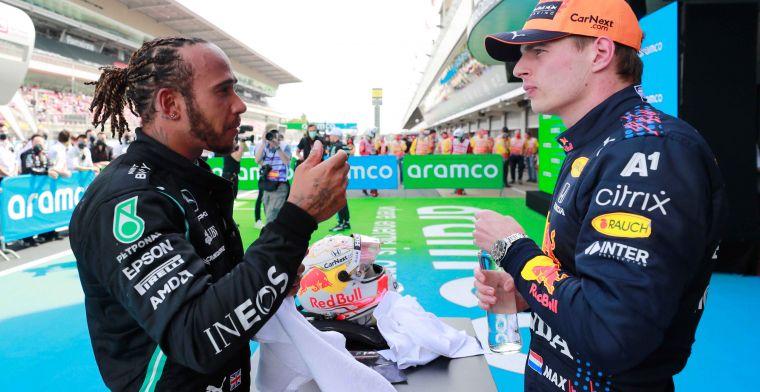 Voormalig wereldkampioen: 'Dit jaar zal Verstappen Hamilton aanpakken'