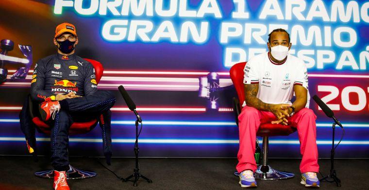 Spanningen lopen op tussen Verstappen en Hamilton: 'Ze keken elkaar niet meer aan'