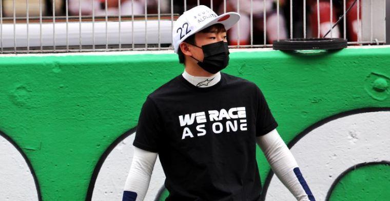 Tsunoda moet stapje terug doen, 'hij heeft ongelooflijk grote waffel'