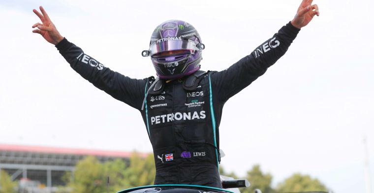Mercedes koos tijdens de race voor een tweede pitstop: 'Slijtage niet verwacht'