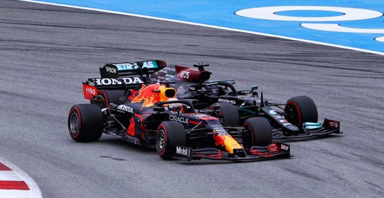 Verstappen en Hamilton houden elkaar heel: 'Allemaal bang voor de stewards'