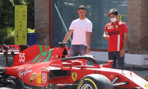 F1 Social Stint | Ferrari gets a visit from a big football star