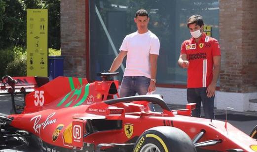 F1 Social Stint | Ferrari gets a visit from a big football star