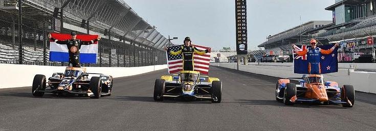 Live Indy500   Veekay valt terug buiten top tien, nog vijf ronden te gaan