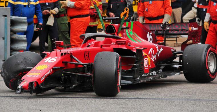 Crash van Leclerc voer voor discussie: ''Je kan niet alles maar bestraffen''