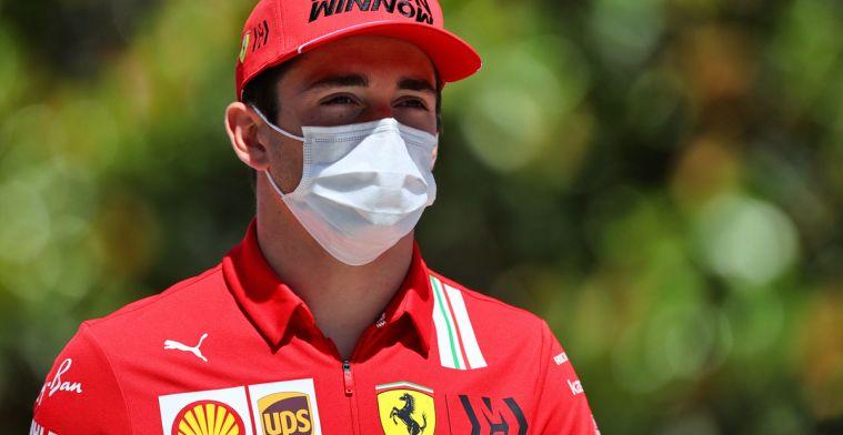 Leclerc pakt opnieuw pole: Alleen jammer dat het weer na een rode vlag is..
