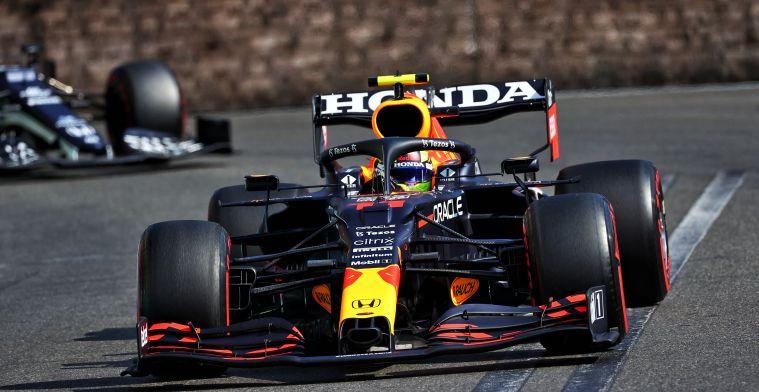 Sergio Perez wins the Azerbaijan Grand Prix after Max Verstappen crashes out