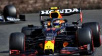 Image: Sergio Perez wins the Azerbaijan Grand Prix after Max Verstappen crashes out