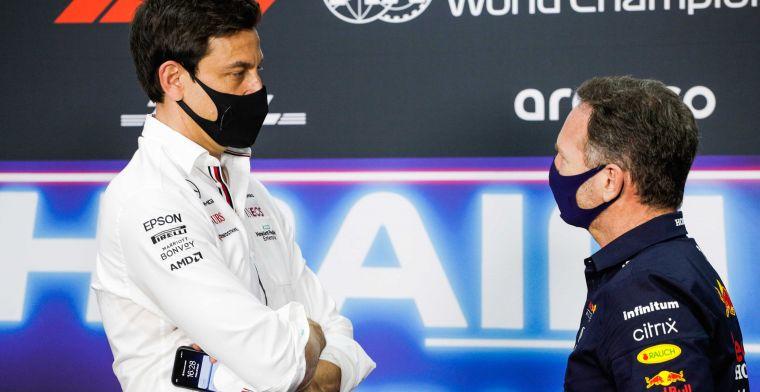 Strijd tussen Horner en Wolff gaat verder: 'Hij brandt publiekelijk zijn team af'