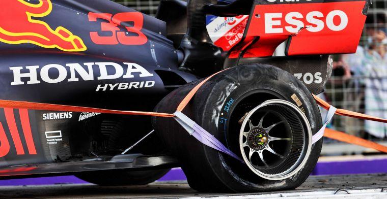 Verstappen uitgeschakeld door klapband: ''Dat is voor Pirelli niet te verkopen''