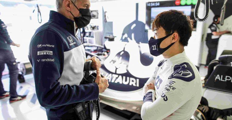 Teambaas AlphaTauri: 'Tsunoda ging zo snel dat ik vreesde voor een crash'