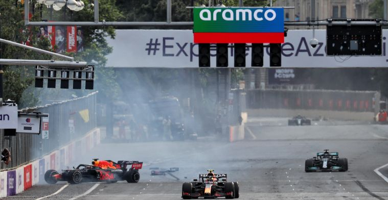 This is the damage the RB16B of Verstappen suffered after the Baku crash