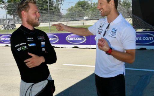 Grosjean makes Pirelli joke: 'Our tyres don't degrade, we have Michelin'