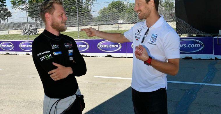 Grosjean maakt Pirelli-grapje: 'Onze banden degraderen niet, we hebben Michelin'
