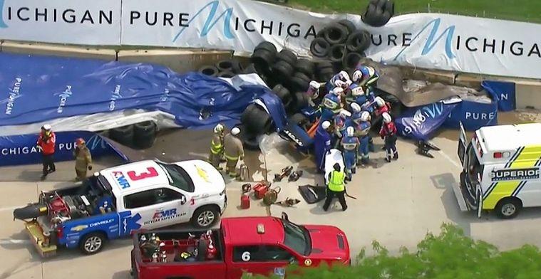 Detroit GP: Vaststekend gaspedaal veroorzaakt enorme klapper voor Felix Rosenqvist