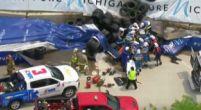 Afbeelding: Detroit GP: Vaststekend gaspedaal veroorzaakt enorme klapper voor Felix Rosenqvist