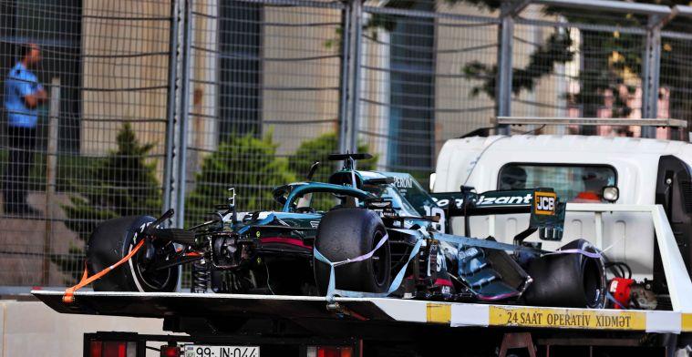 Aston Martin: 'We hebben geluk dat alleen de auto kapot is en niet iets anders'