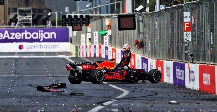 Russell niet blij met Baku-crashes: 'Dan had Verstappen niet geracet dit weekend'