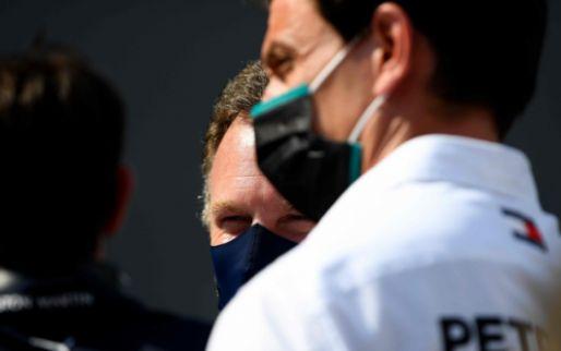 Horner en Wolff naast Rosberg: