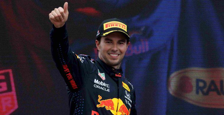 Perez dankt Red Bull: Team heeft goed werk geleverd