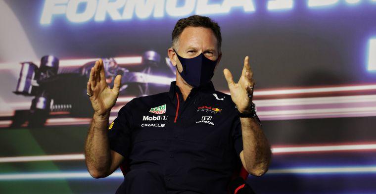 Horner niet blij met Mercedes: 'Proberen ons langzamer te maken'
