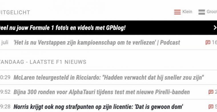 GPblog introduceert nieuwe weergave nieuwsoverzicht