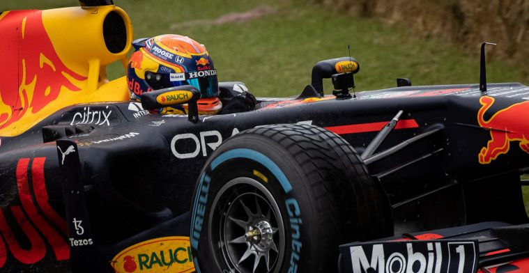 Red Bull Racing applauded by huge crowds at Goodwood