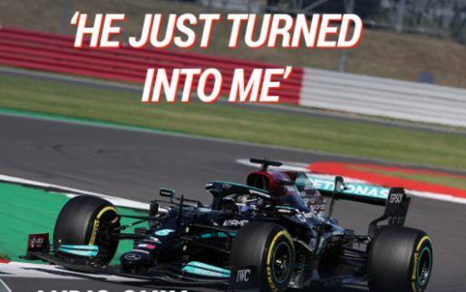 Hamilton blames Verstappen: 'He steered into me!'