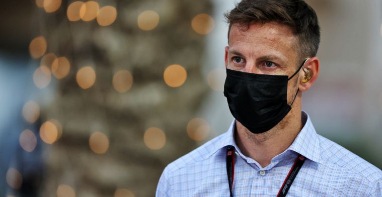 Button: 'He's angry and emotional seeing his friend and driver in the wall'