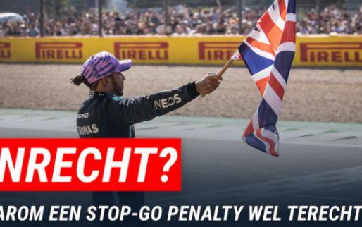 Waarom een stop-go penalty de enige terechte penalty was voor Hamilton