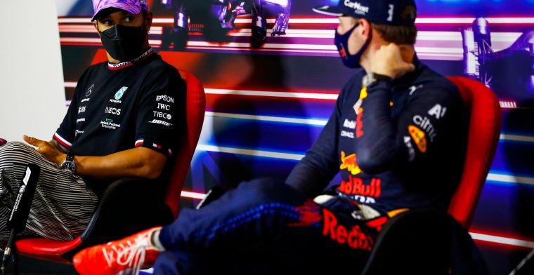 Hamilton neemt contact op met Verstappen na crash op Silverstone