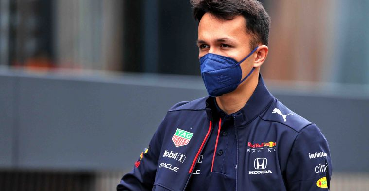 Albon: 'Of course it's nice to get those reactions from Verstappen and Perez'.