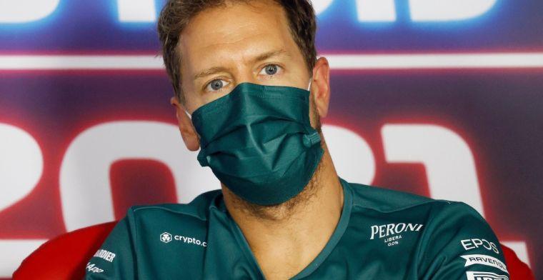 Vettel oneens met Verstappen: 'Was de zwaarste straf die ze konden geven'