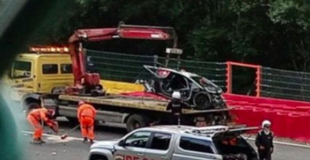 Jack Aitken involved in major crash during 24 hour race at Spa