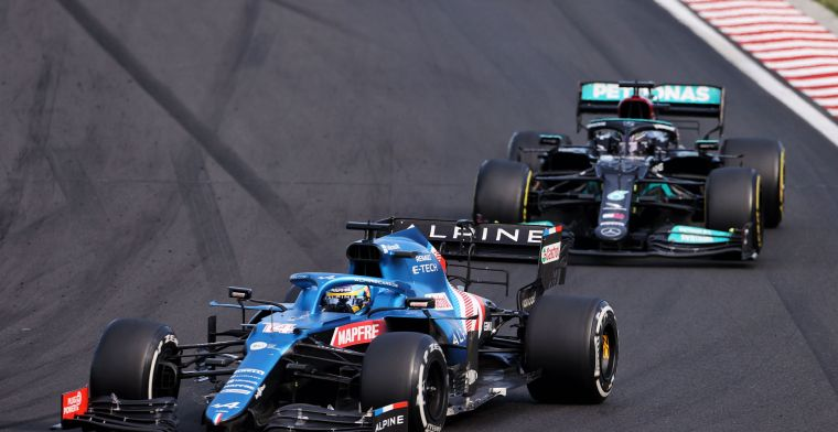 Team scores in Hungary: Alpine excels, Mercedes again low