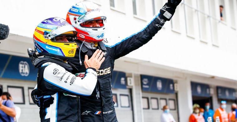 Ocon opgelucht door goede samenwerking met Alonso: 'Daar ben ik voor gewaarschuwd'