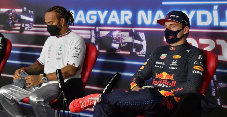 Hamilton remt niet meer voor Verstappen: 'Kwam hij op een harde manier achter'