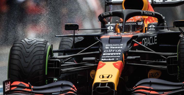 Verstappen winnaar van de GP van België, halve punten uitgedeeld door de regen
