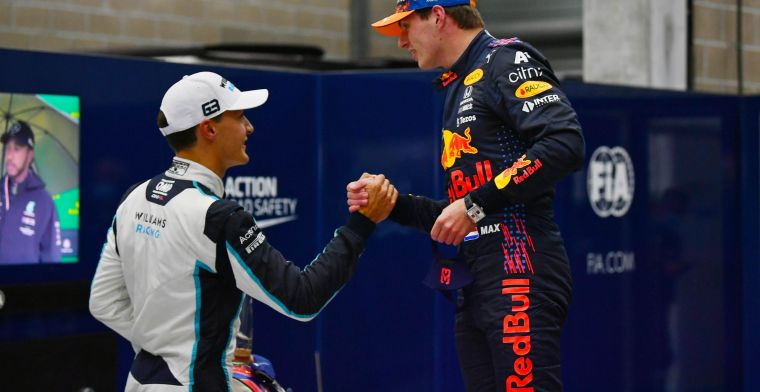 Russell krijgt steun van Verstappen: 'Hij kan het Hamilton lastig gaan maken'