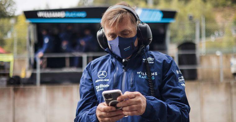Williams voelt gevolgen van positieve test Raikkonen, teambaas in isolatie